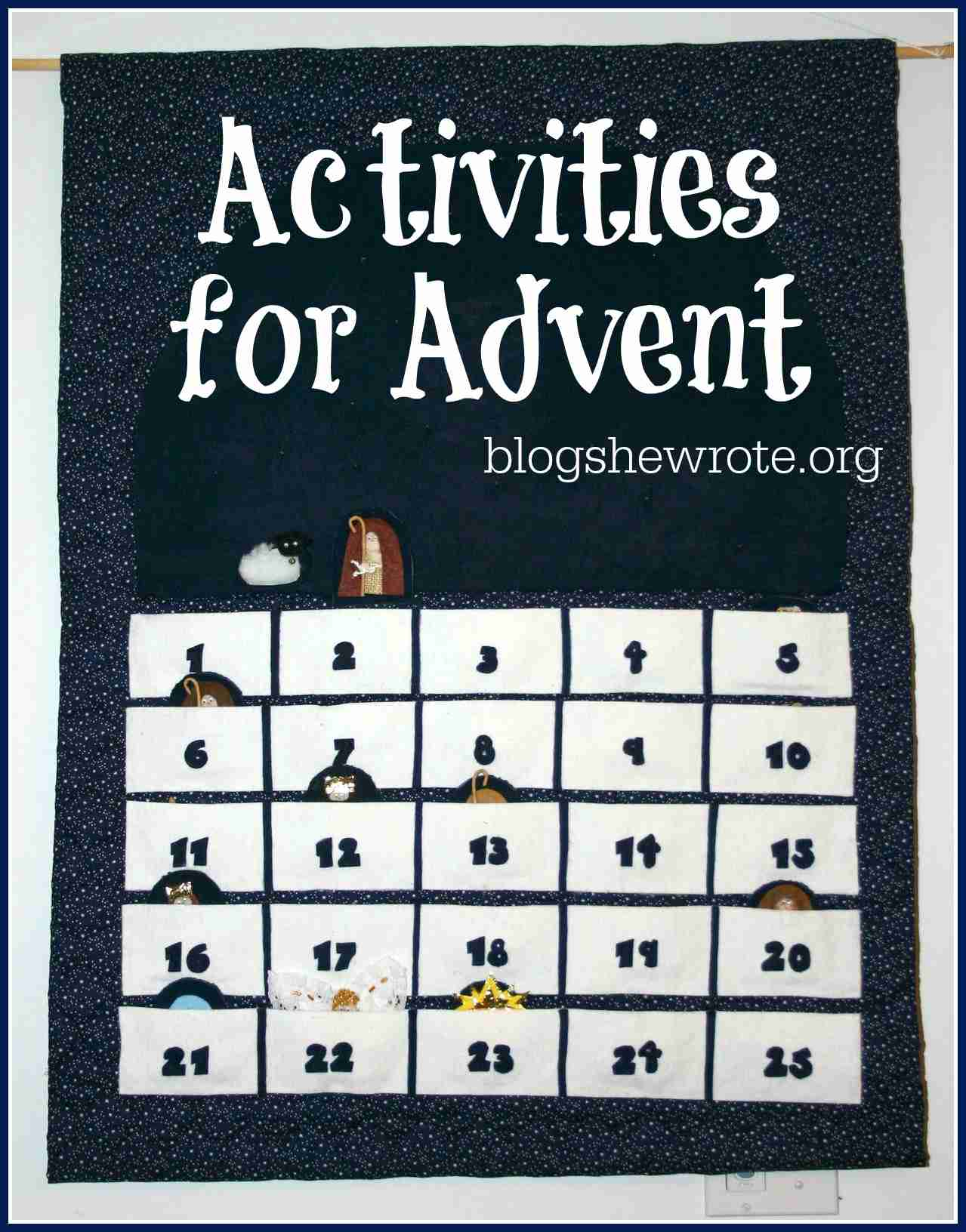 Blog, She Wrote: Activities for Advent