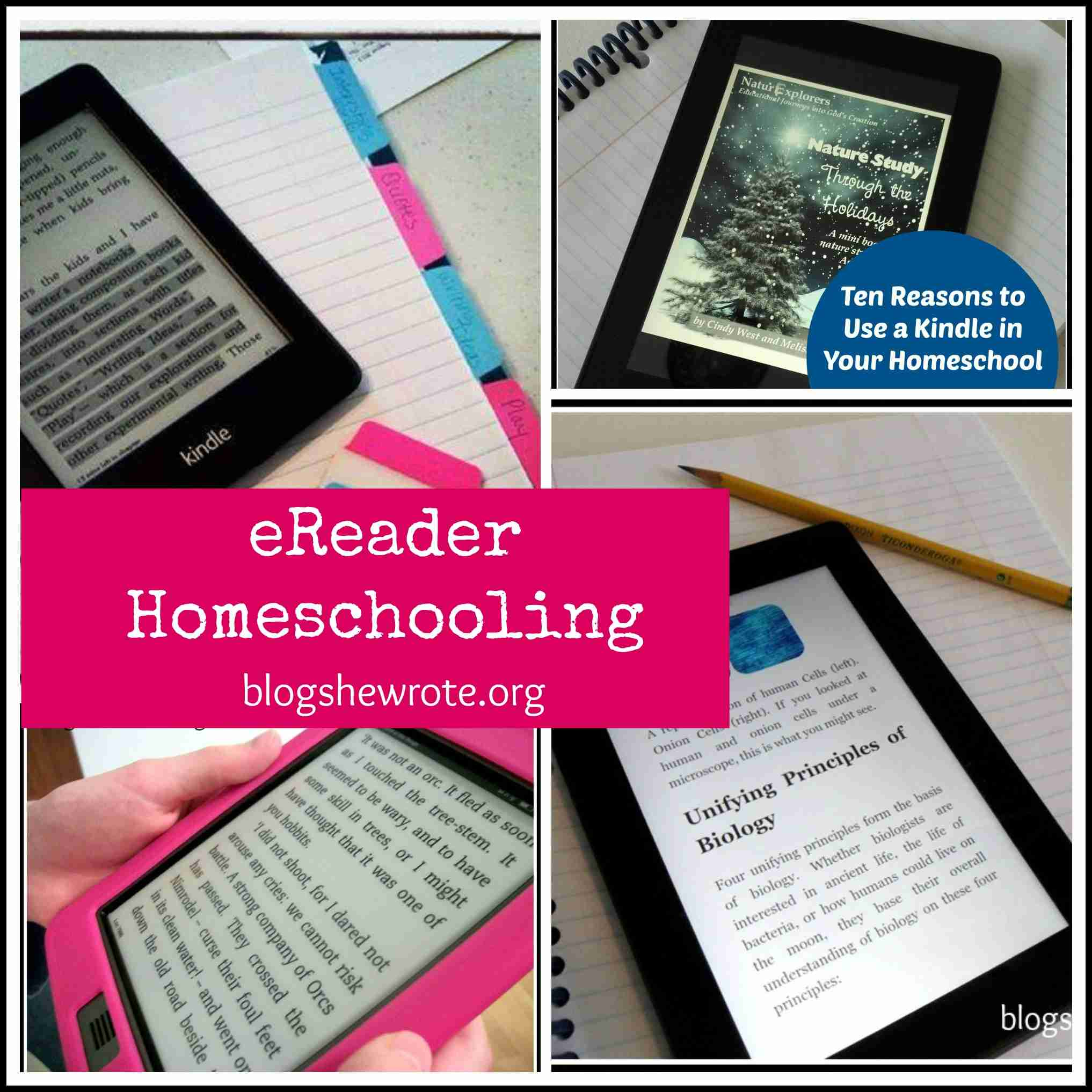 Blog, She Wrote: eReader Homeschooling