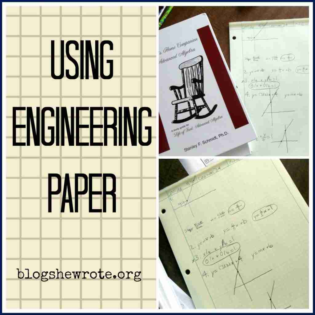 Using Engineering Paper