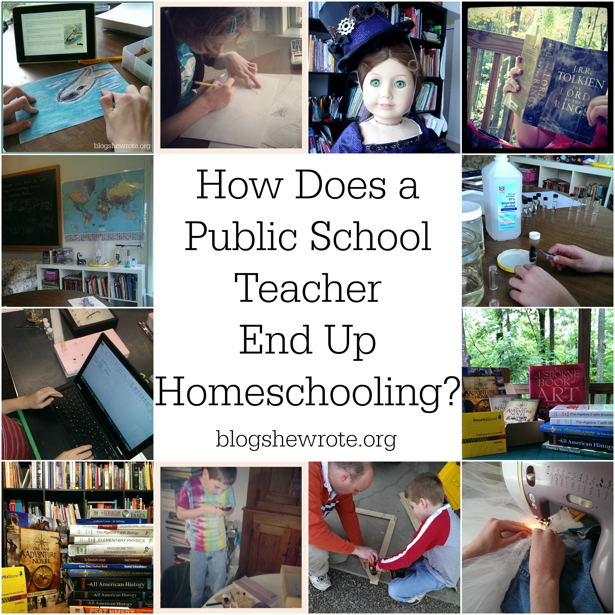Blog, She Wrote: How Does a Public School Teacher End Up Homeschooling?
