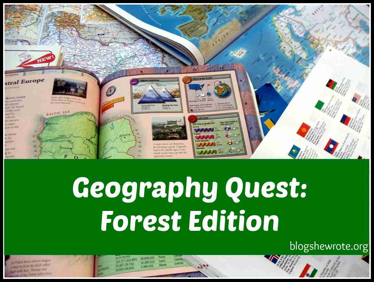 Blog, She Wrote: Geography Quest- Forest Edition