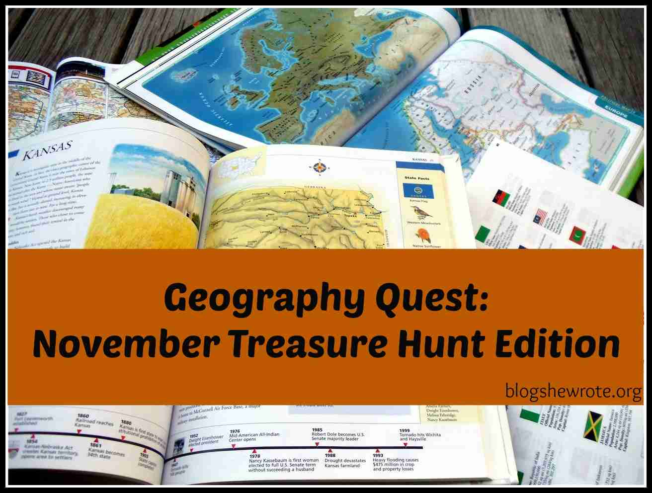 Blog, She Wrote: November Treasure Hunt Edition