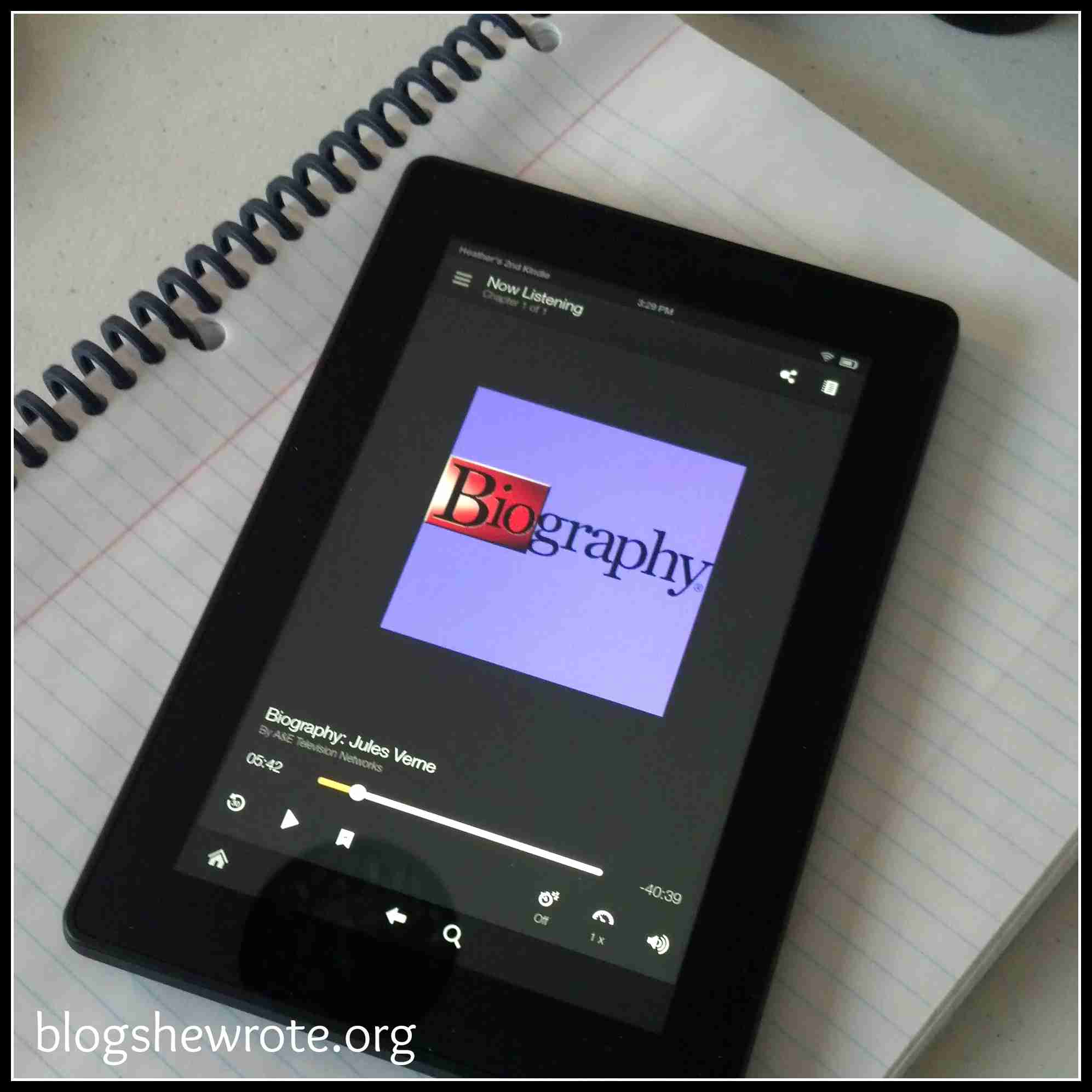 Blog, She Wrote: Ten Reasons to Use a Kindle Fire in Your Homeschool