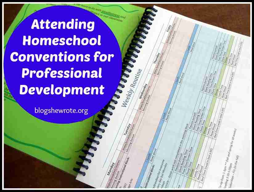 Blog, She Wrote: Attending Homeschool Conventions for Professional Development