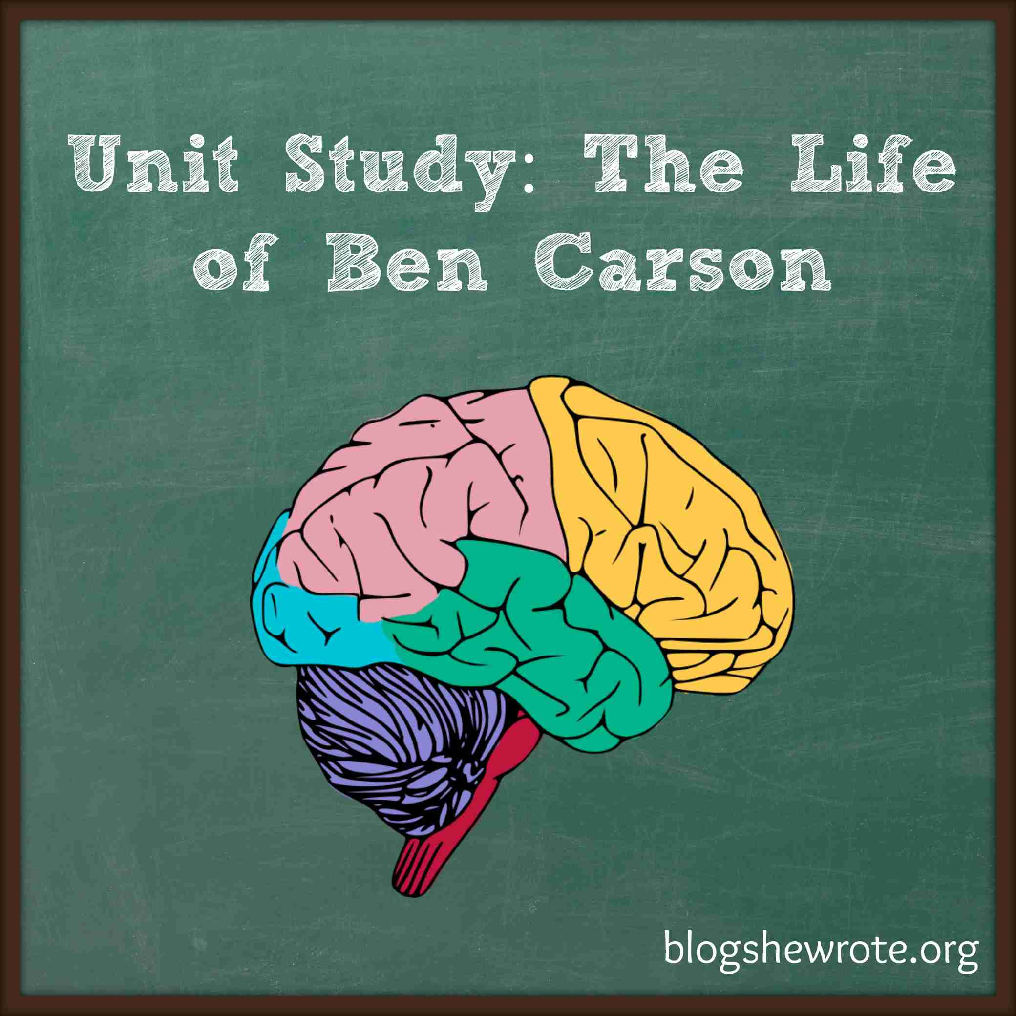 Blog, She Wrote: Unit Study- The Life of Ben Carson