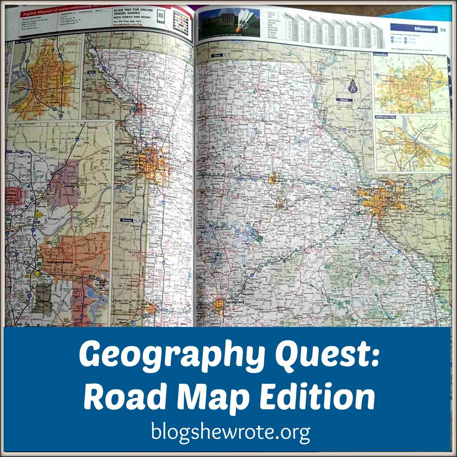 Blog, She Wrote: Geography Quest- Road Map Edition