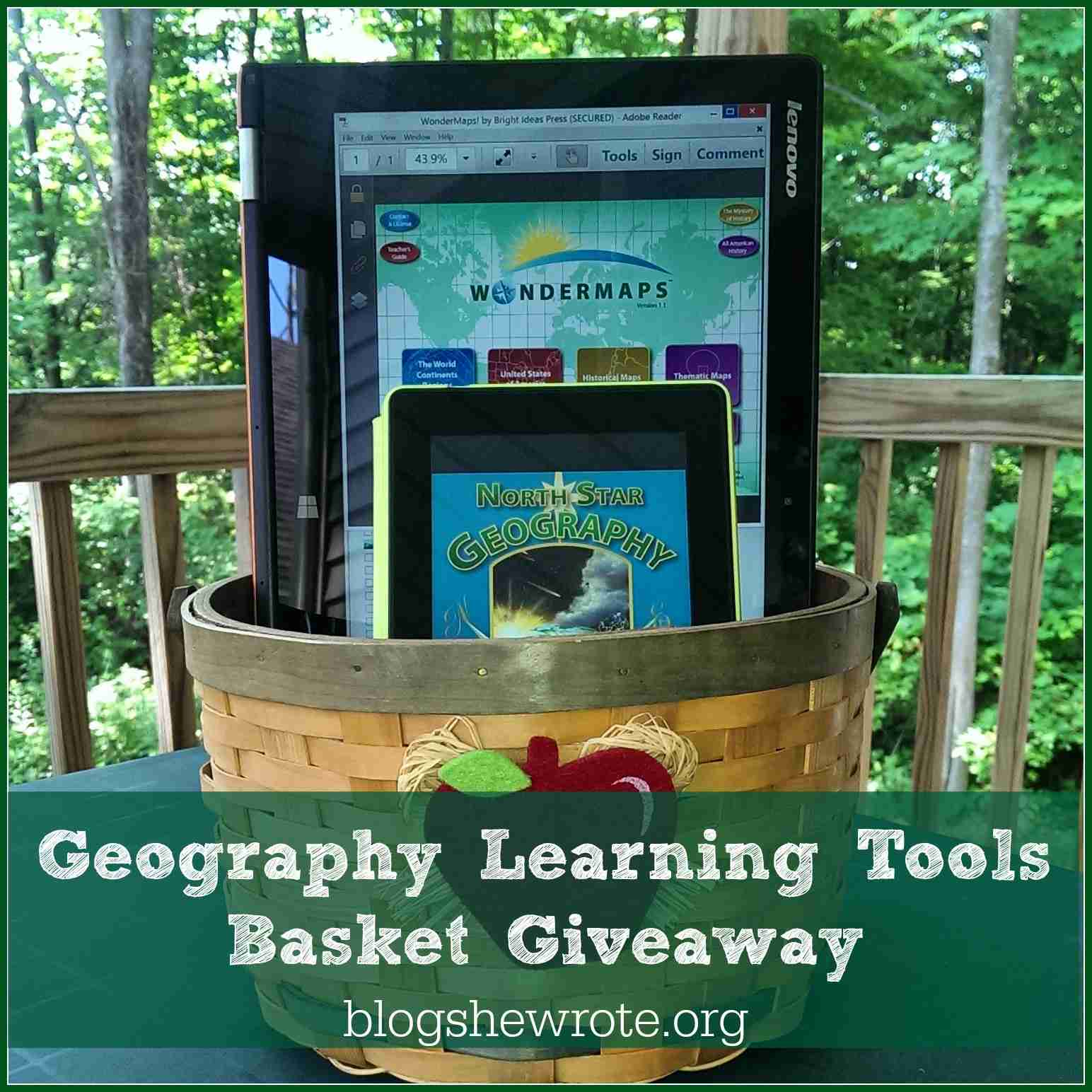 Blog, She Wrote: Geography Learning Tools Basket Giveaway