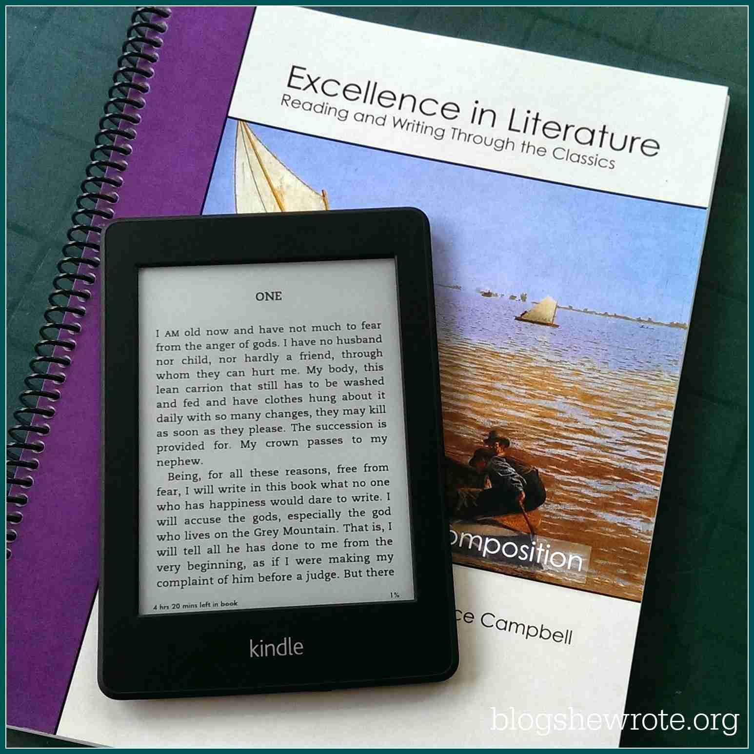 Blog, She Wrote: How to Use a Kindle in Your Homeschool