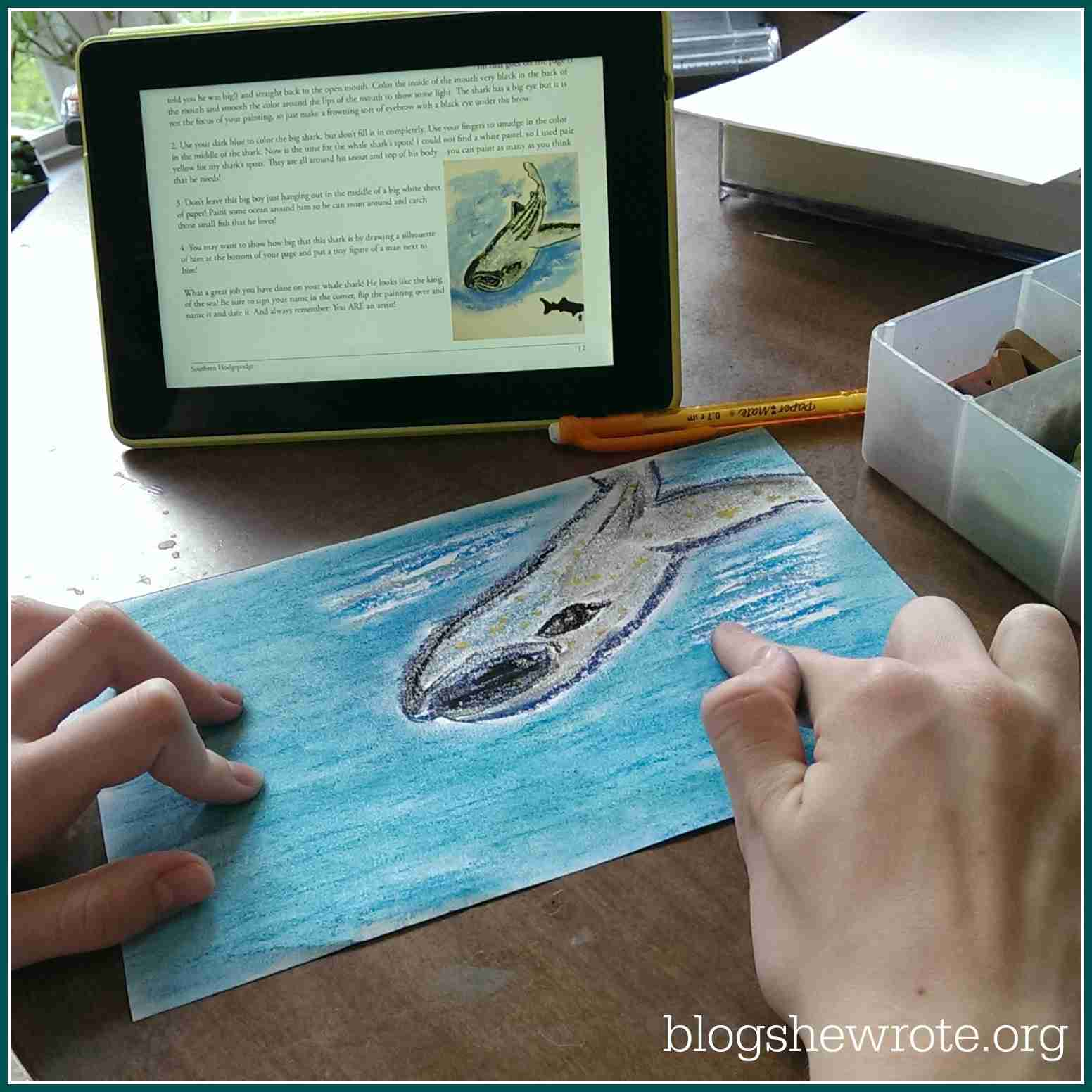 Blog, She Wrote: Geography Quest: Shark Edition