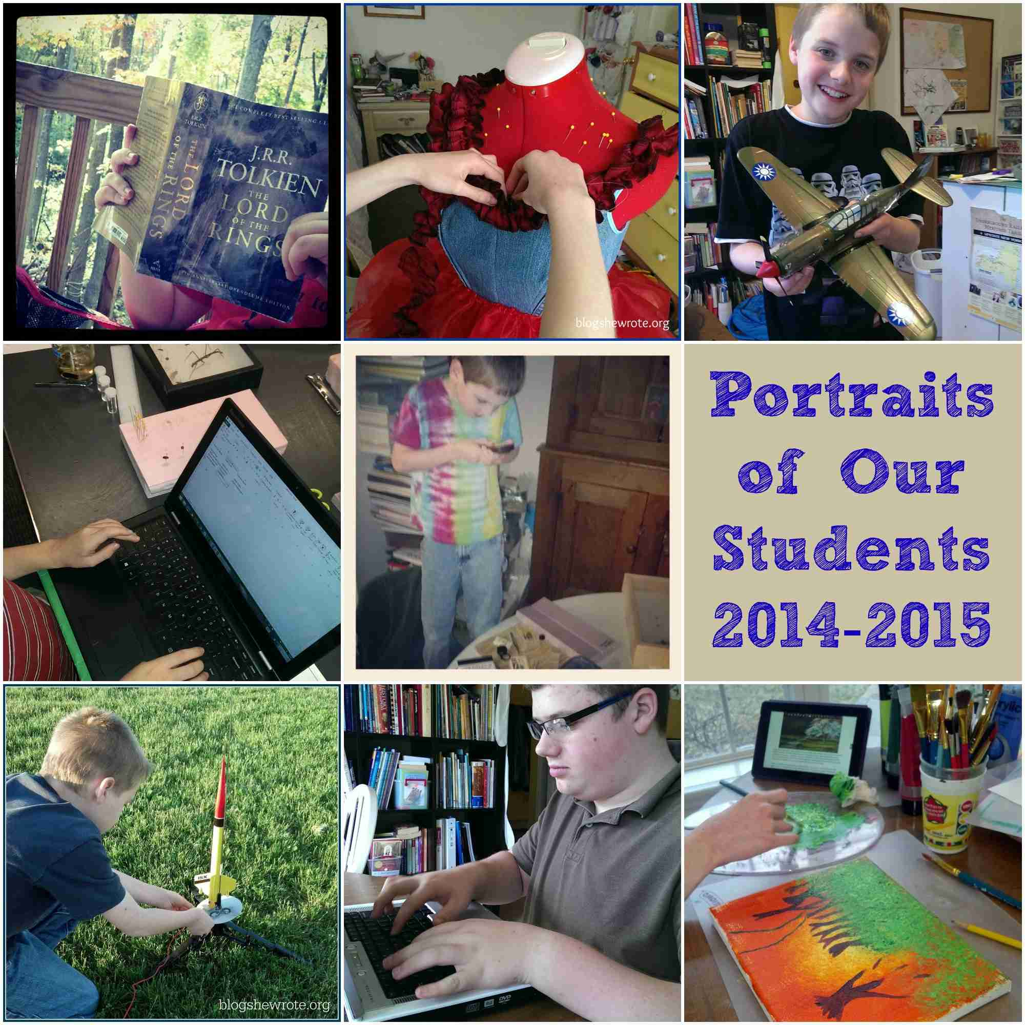 Blog, She Wrote: Portraits of Our Students 2014-2015