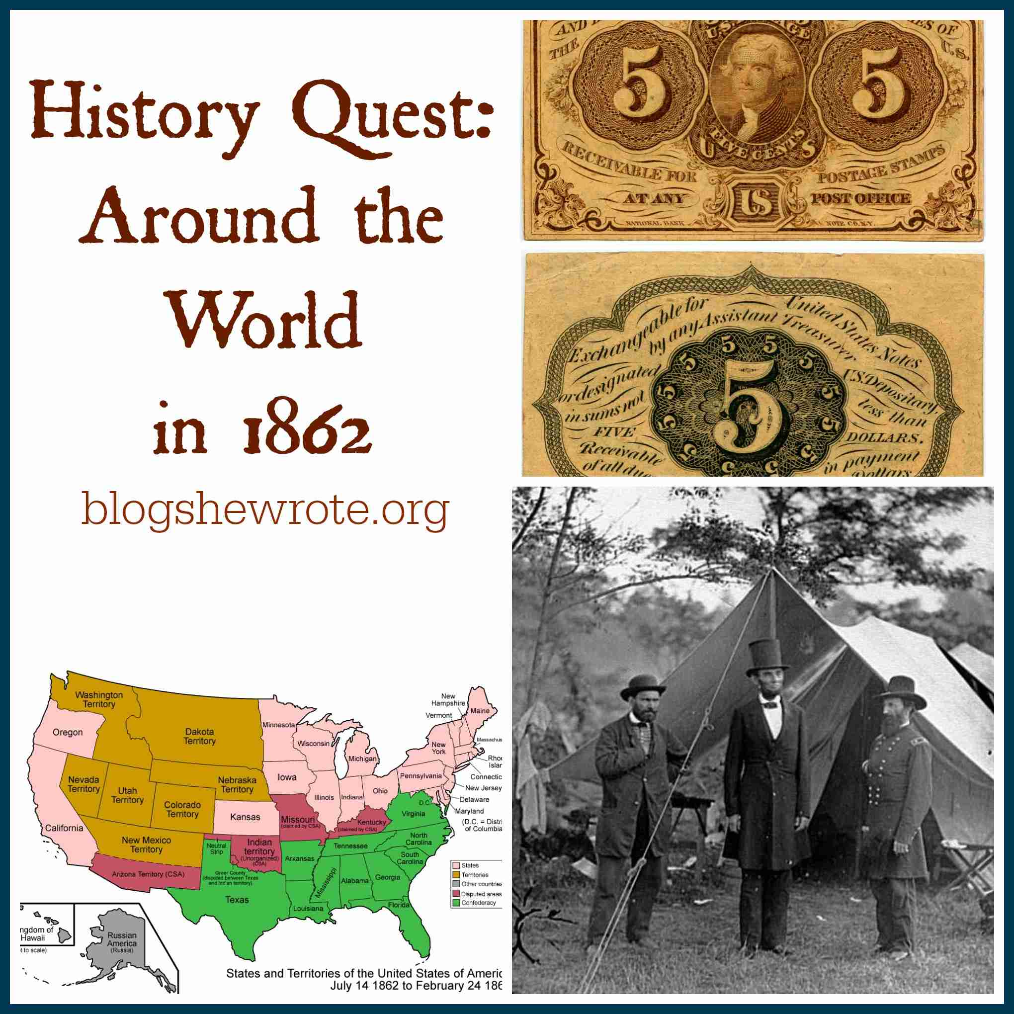 Blog, She Wrote: History Quest- Around the World in 1862