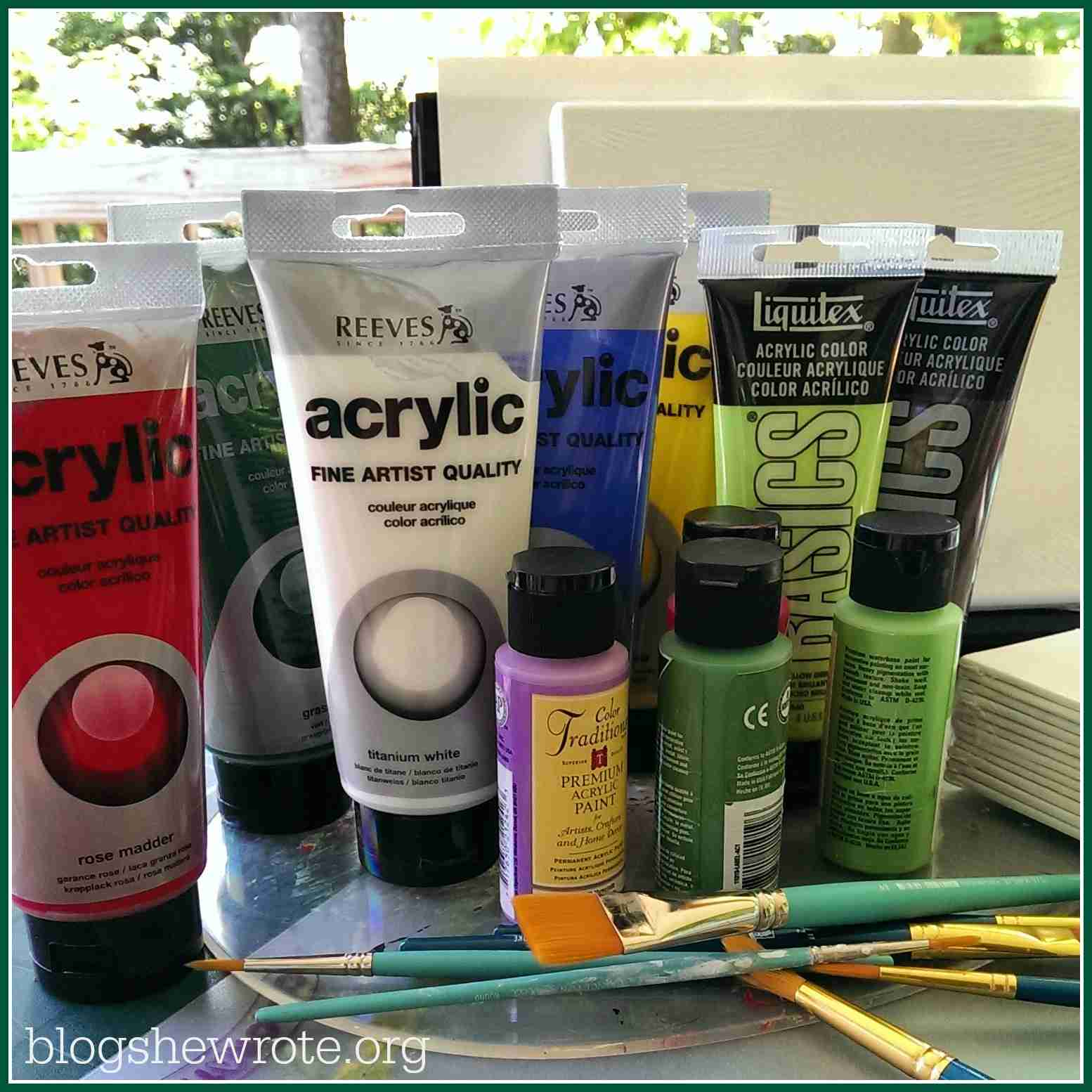must have art supplies for a project based homeschool blog she wrote
