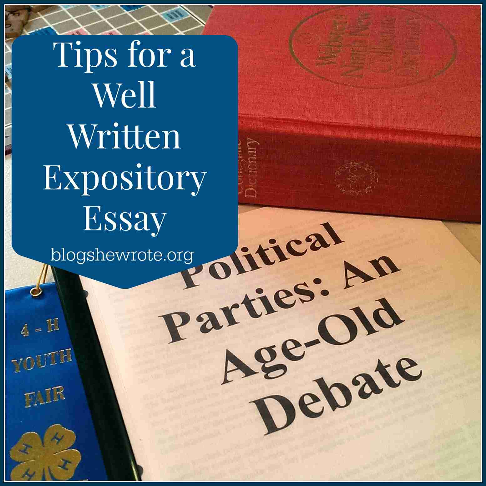 Blog, She Wrote: Tips for a Well Written Expository Essay