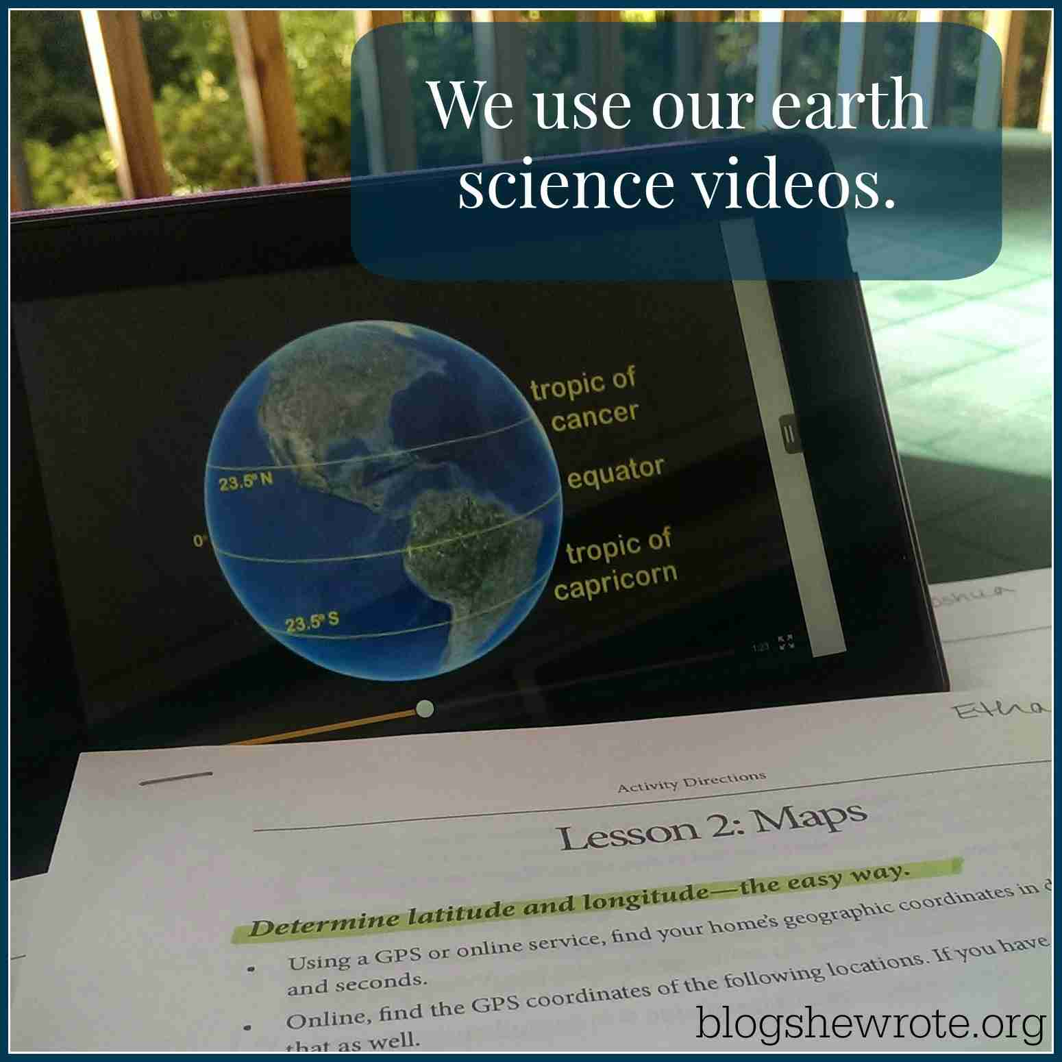 Blog, She Wrote: Teaching Geography with Earth Science