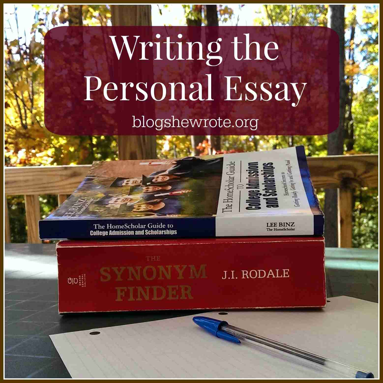 Blog, She Wrote: Writing the Personal Essay