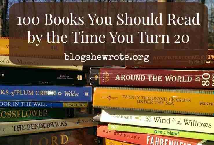 100 Books You Should Read by the Time You Turn 20