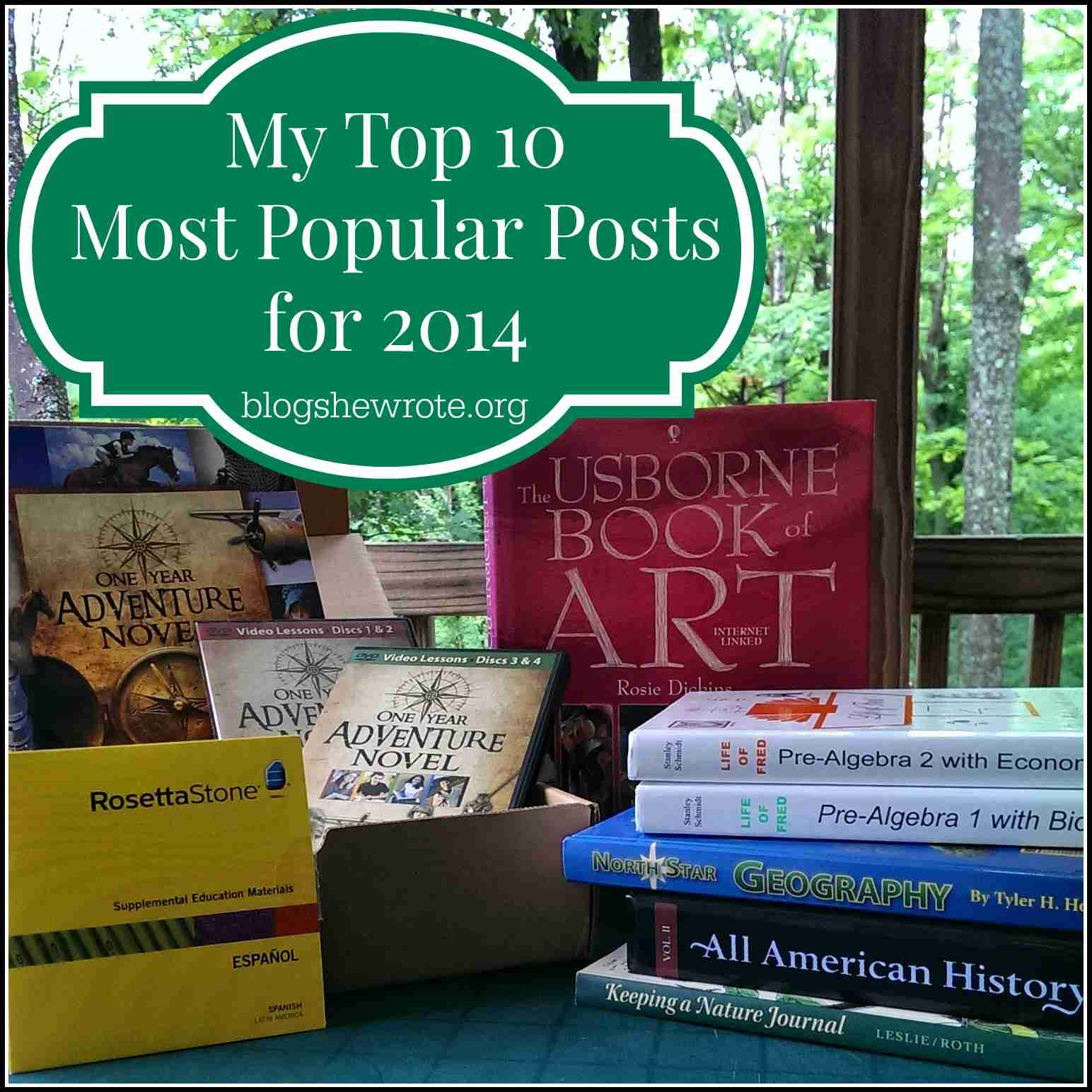 Blog, She Wrote: My Top 10 Most Popular Posts for 2014