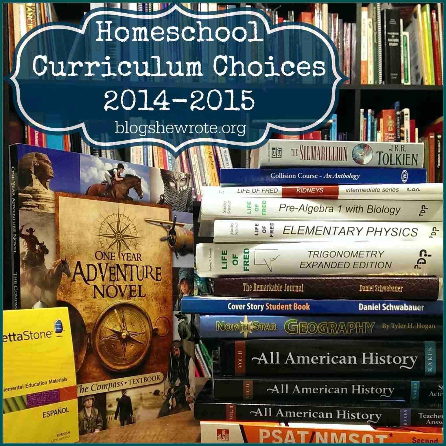 Blog, She Wrote: Homeschool Curriculum Choices 2014-2015