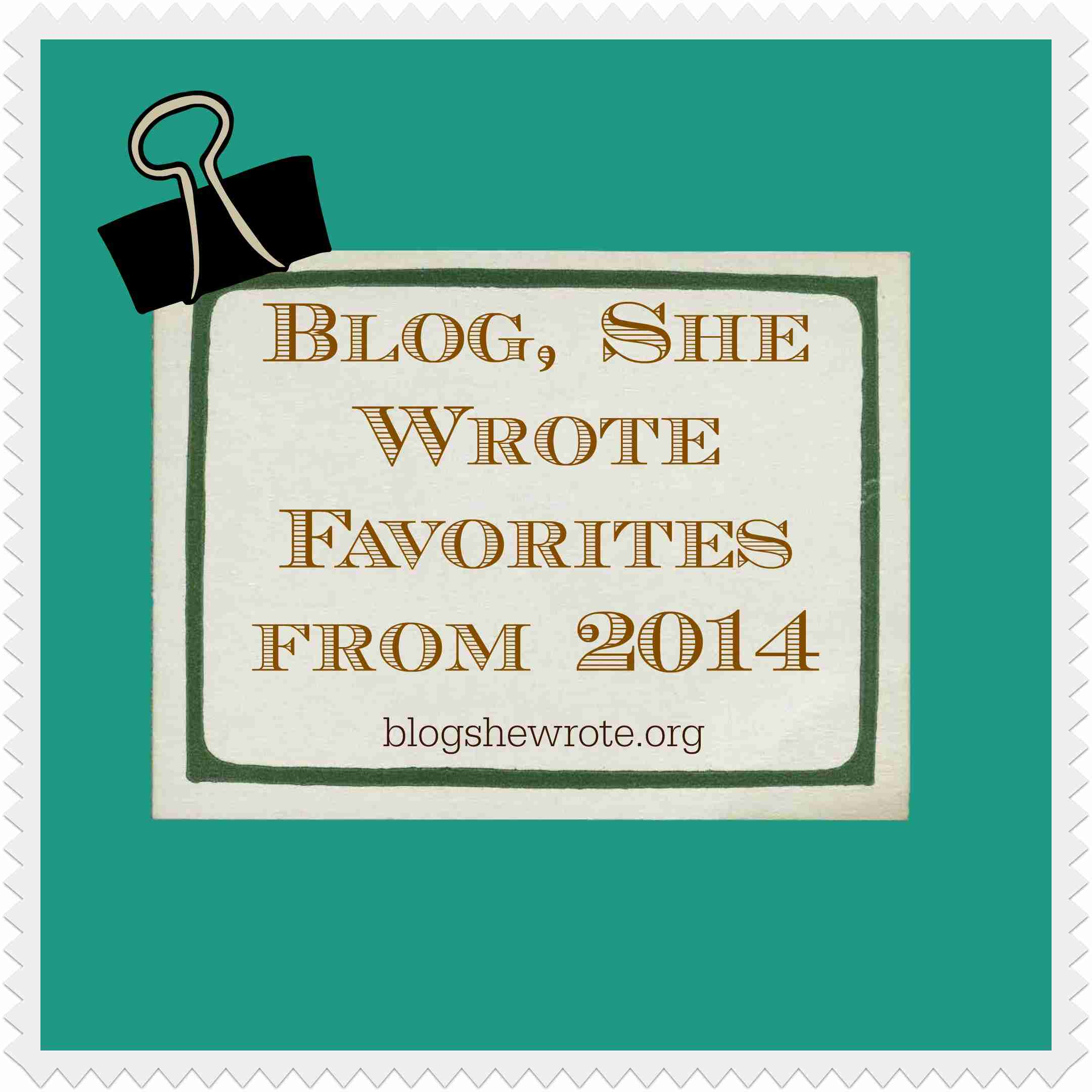 Blog, She Wrote Favorites 2014