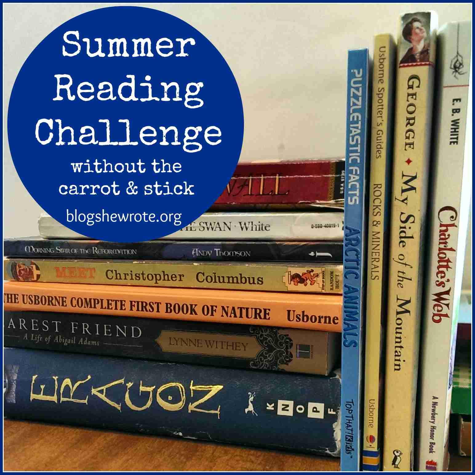 Blog, She Wrote: Summer Reading Challenge without the Carrot & the Stick