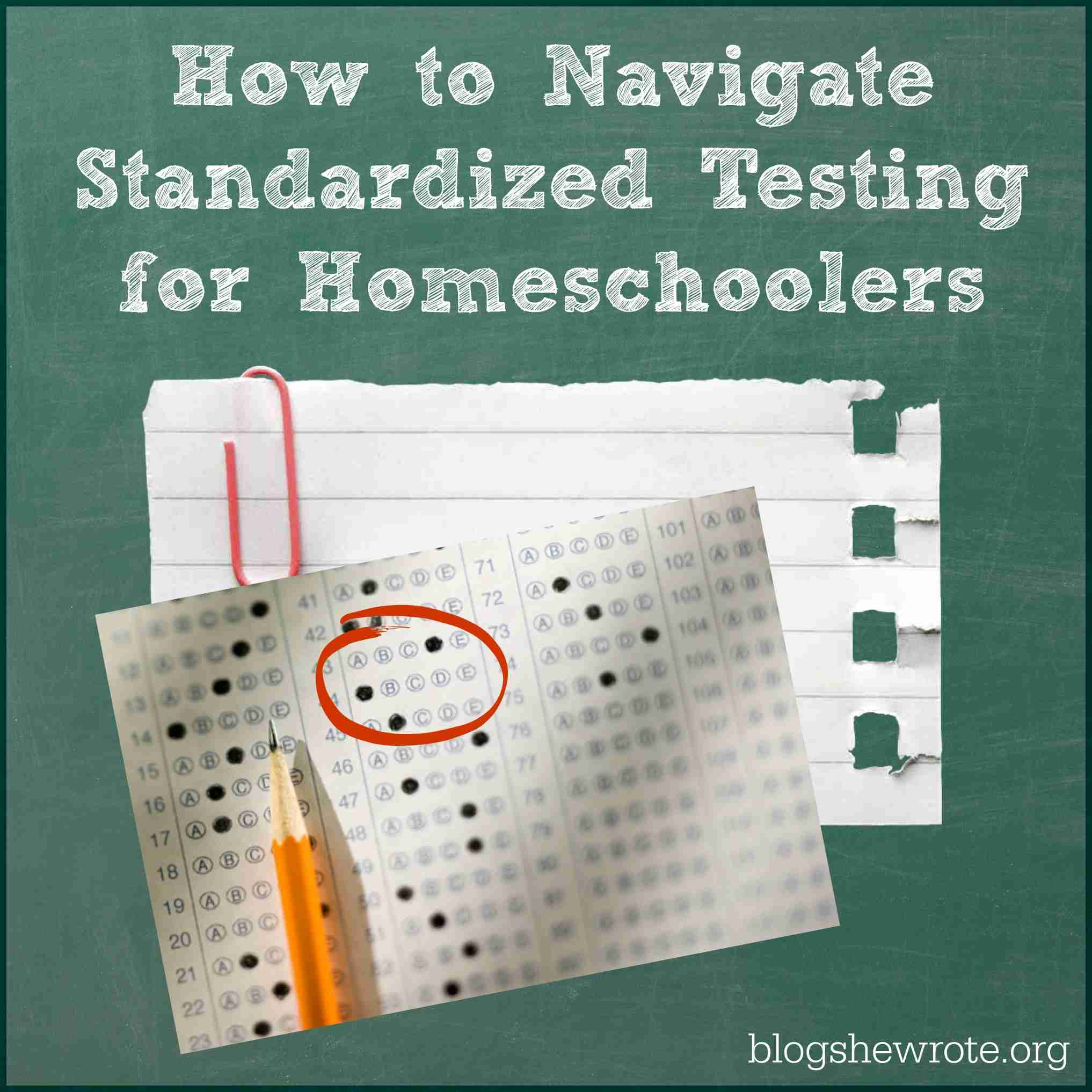 How To Navigate Standardized Testing For Homeschoolers Blog She Wrote