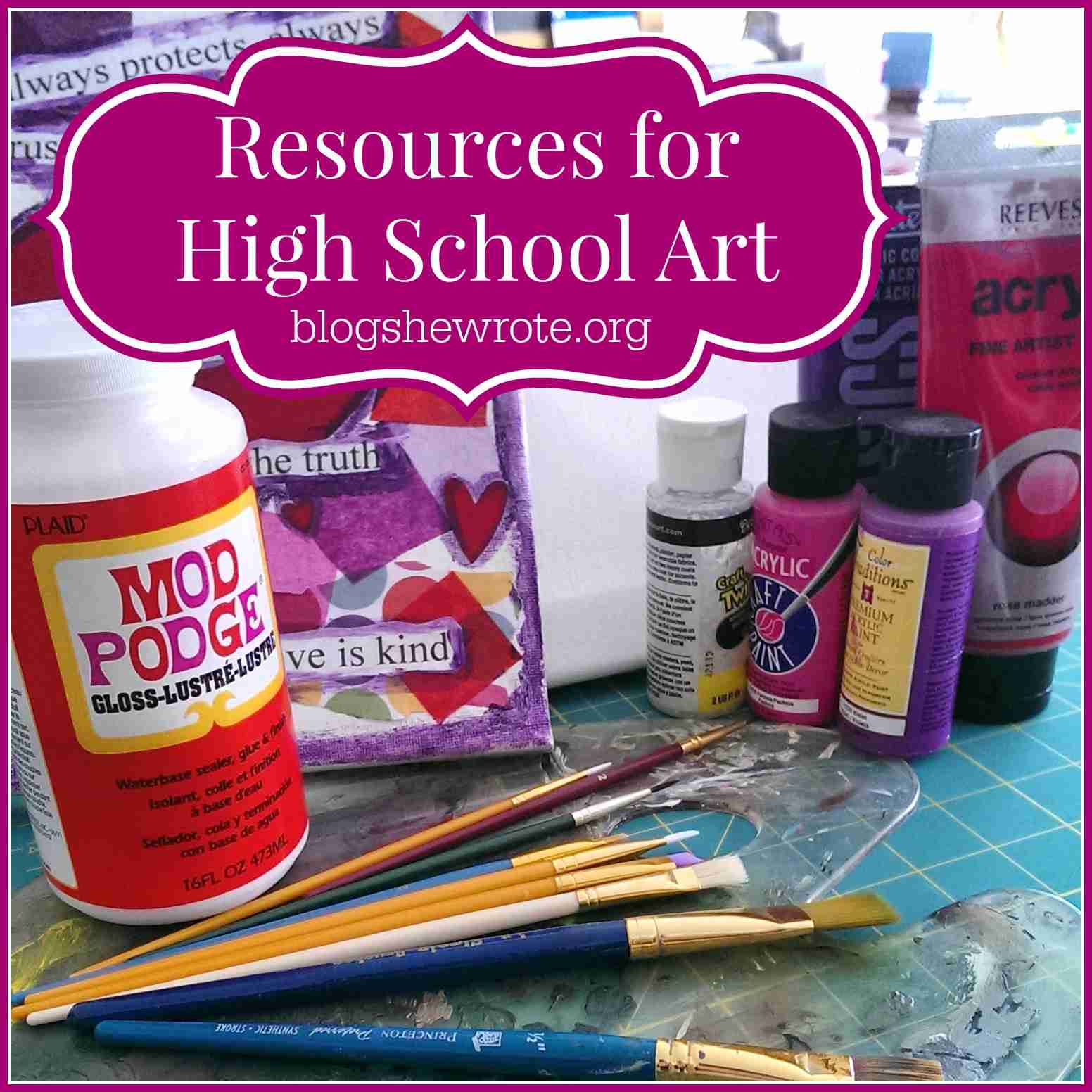 Blog, She Wrote: Resources for High School Art