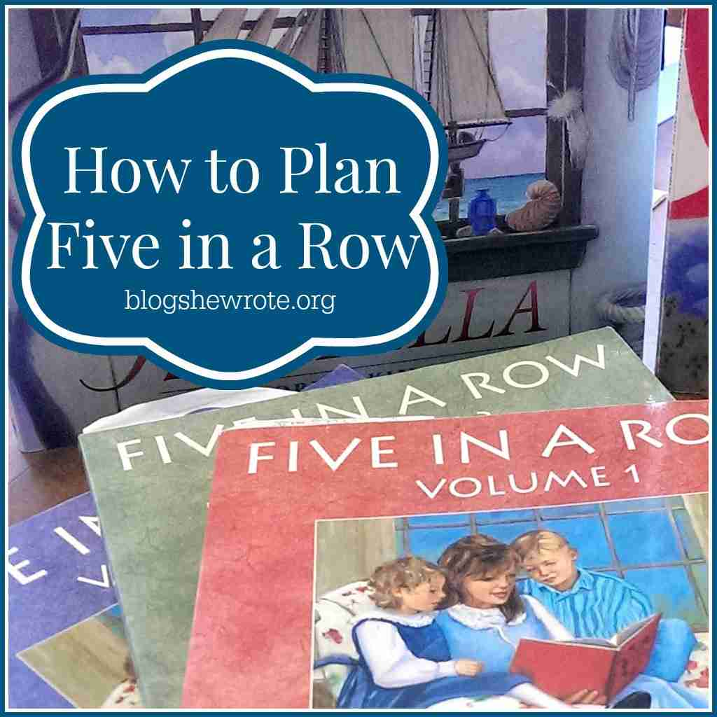 Blog, She Wrote How to Plan Five in a Row