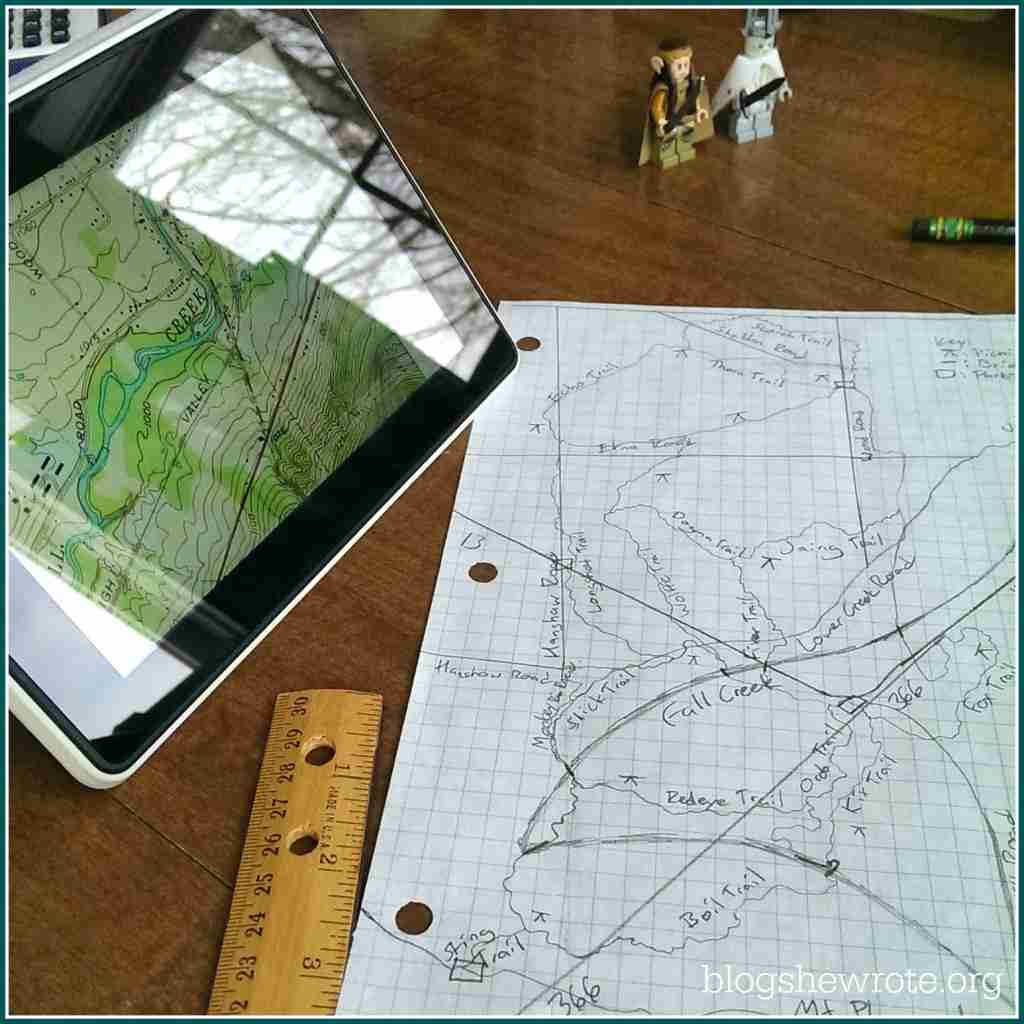 Blog, She Wrote Trail Planning Using Topographic Quandrant Maps