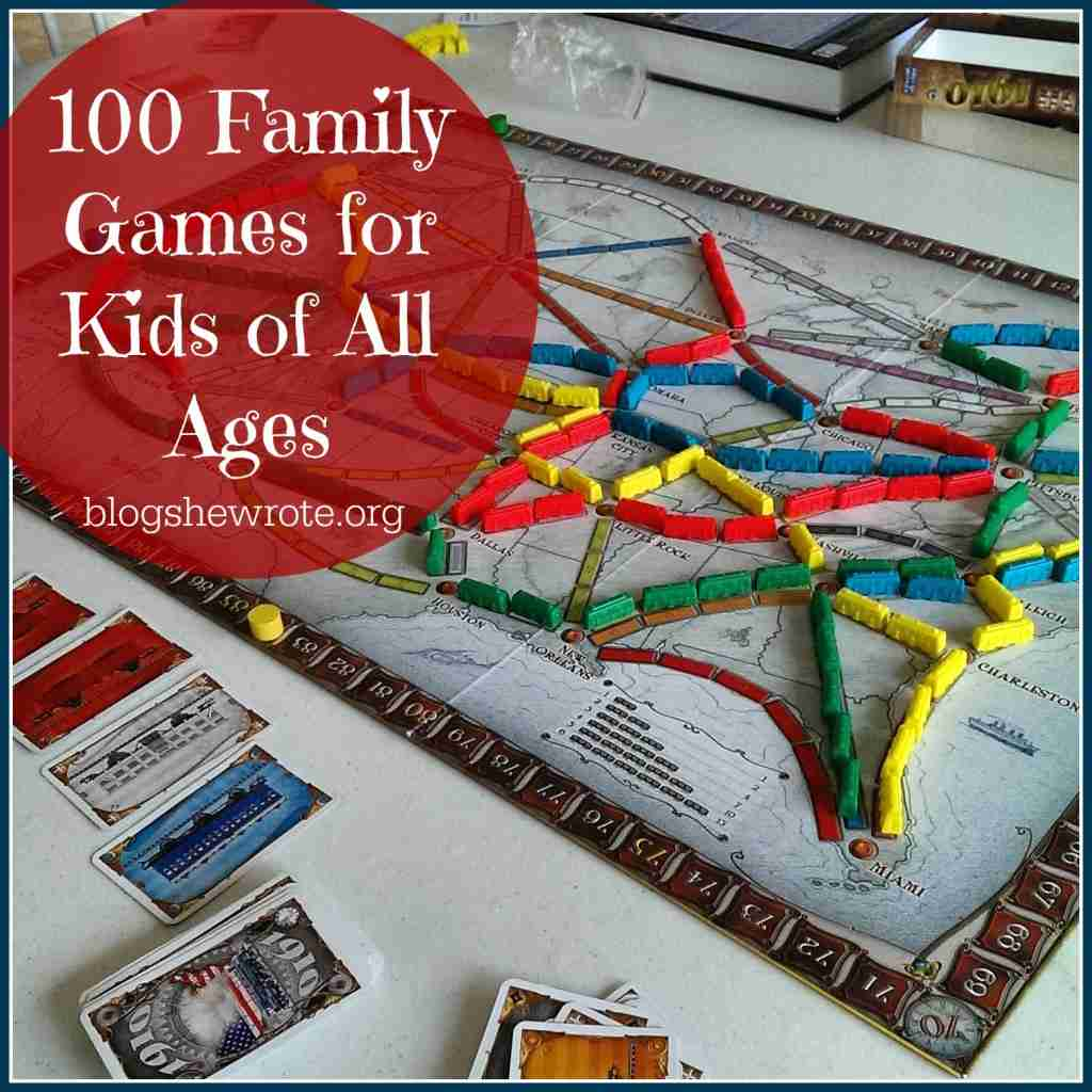 100 Family Games for Kids of All Ages