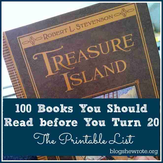 100 Books You Should Read before You Turn 20- The Printable List