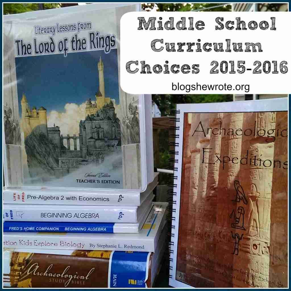 Middle School Curriculum Choices 2015-2016