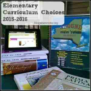 Elementary Curriculum Choices 2015-2016