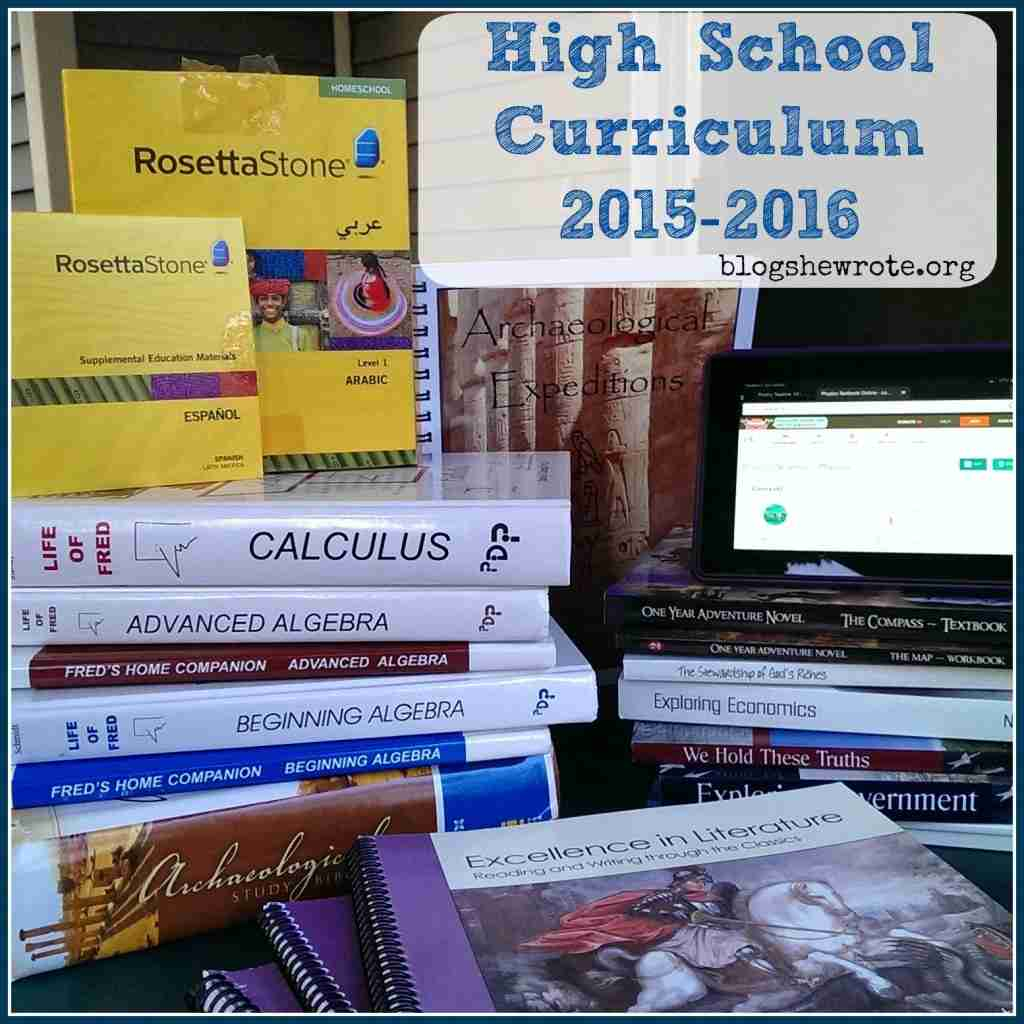 High School Curriculum Choices 2015-2016