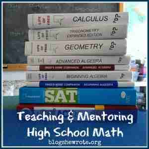 Teaching & Mentoring High School Math