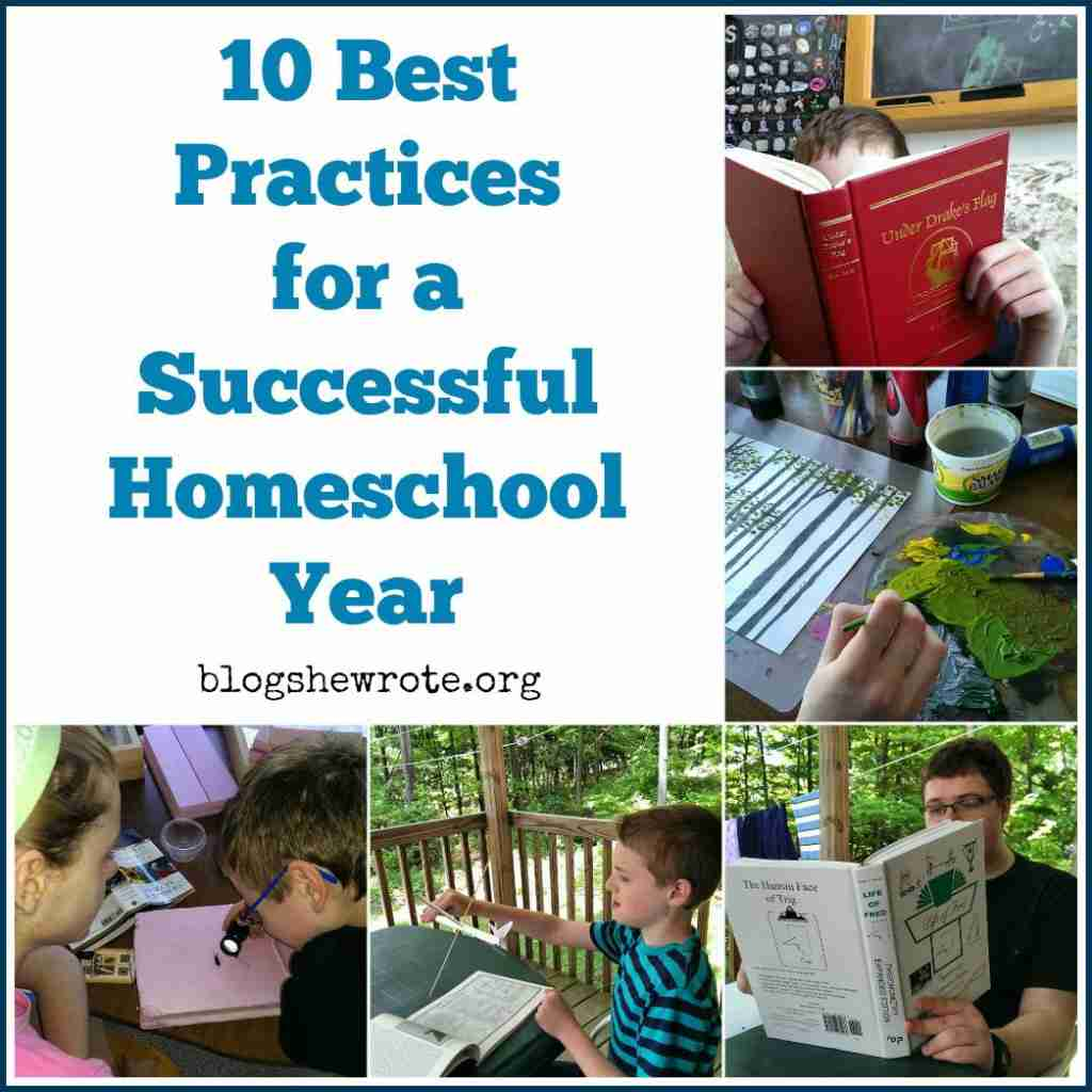 10 Best Practices for a Successful Homeschool year