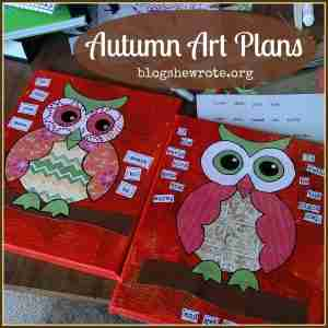 Autumn Art Plans