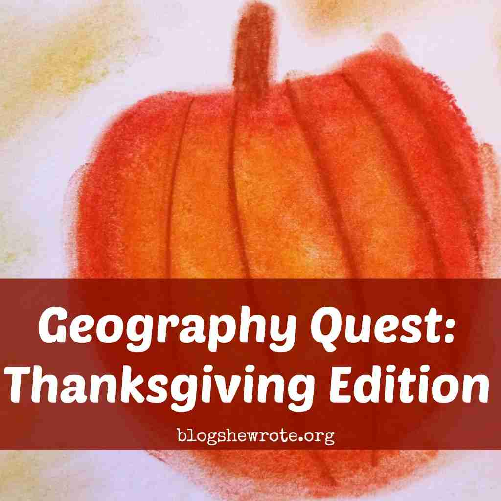 Geography Quest Thanksgiving Edition Learn about the journey of the Pilgrims to North America and explore American Thanksgiving traditions.