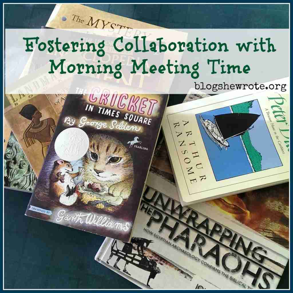 Fostering Collaboration with Morning Meeting Time