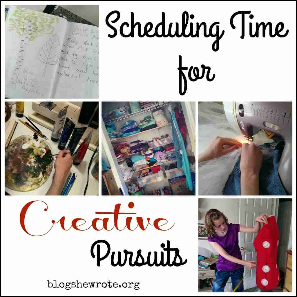 Scheduling Time for Creative Pursuits