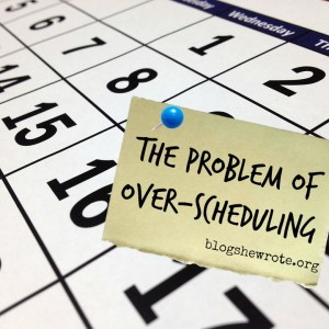 The Problem of Over-Scheduling