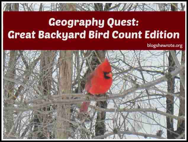 Geography Quest Great Backyard Bird Edition