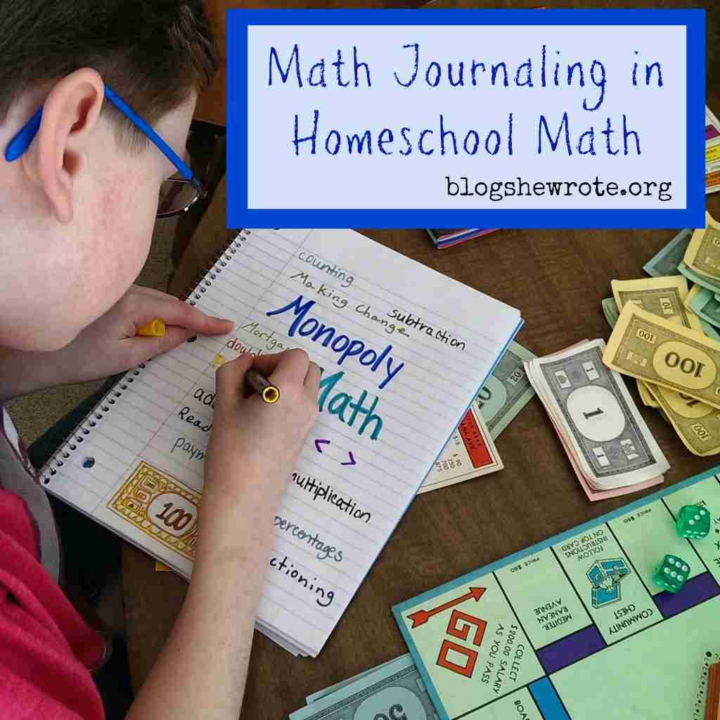 Math Journaling in Homeschool Math