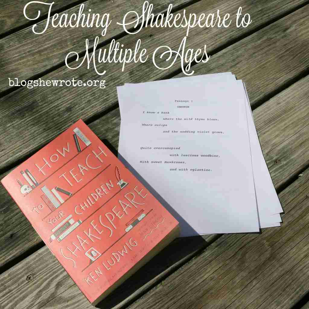 Teaching Shakespeare to Multiple Ages