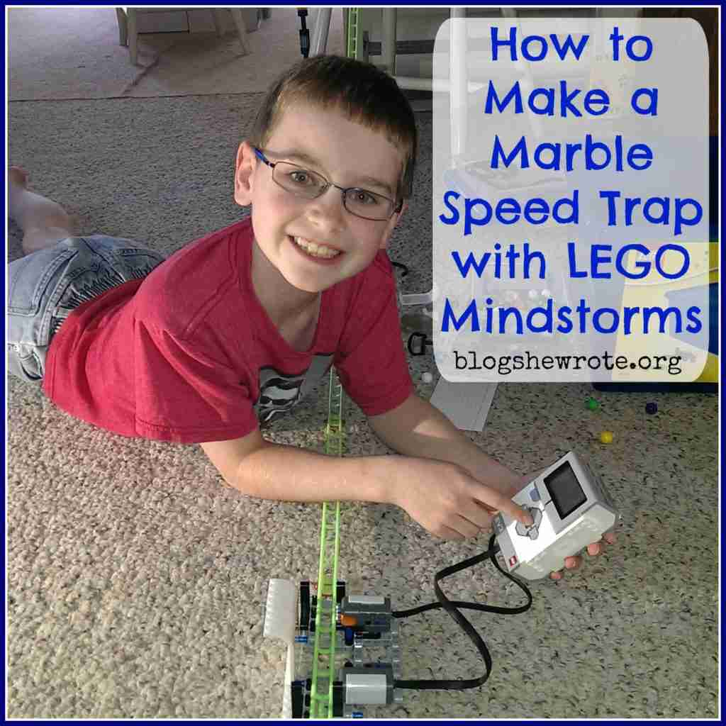 How to Make a Marble Speed Trap with LEGO Mindstorms