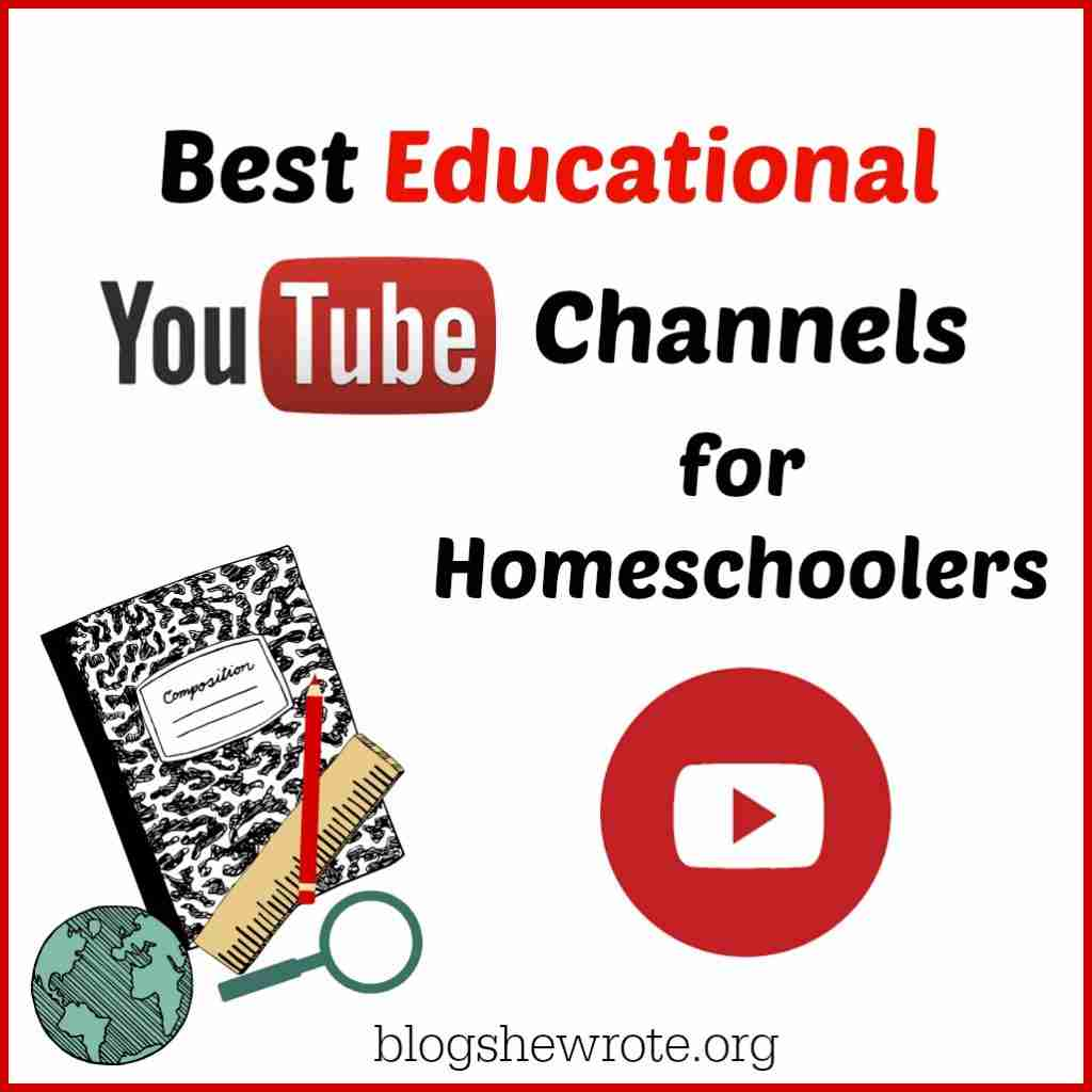 Best Eduational You Tube Channels for Homeschoolers