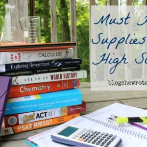 Must Have Supplies for High School
