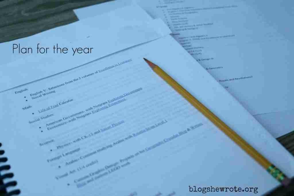 How to Make a Four Year Homeschool High School Plan