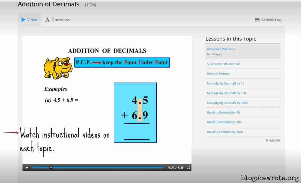 Homeschool Math Practice with CTC Math