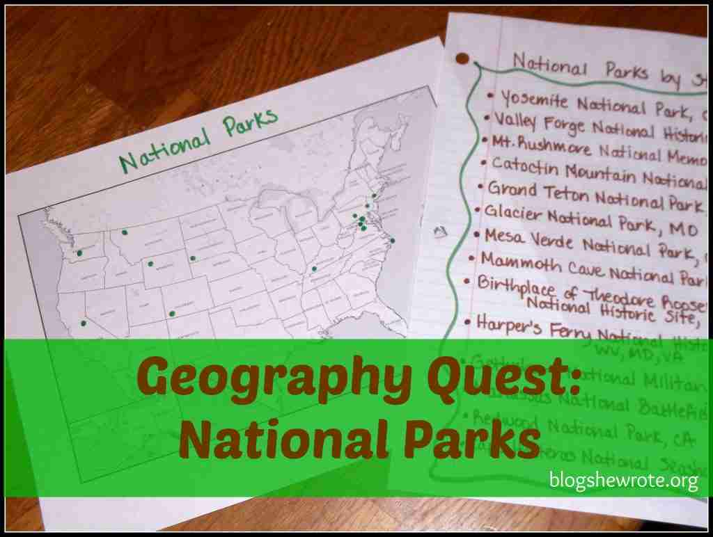 Geography Quest National Parks Edition