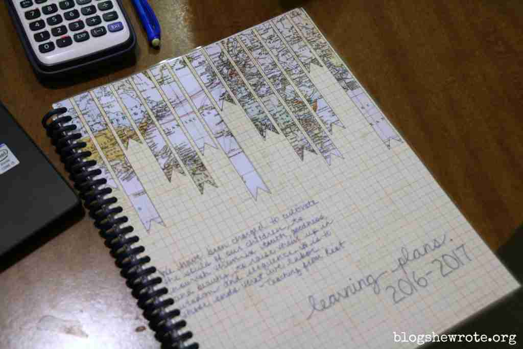 Homeschool Planning with a Blank Notebook